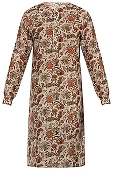 Multicolour chintz print chanderi kurta