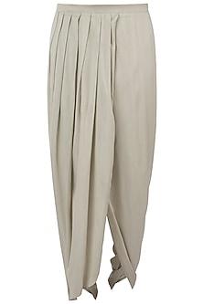 Light grey drape dhoti pants