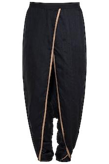 Black & Gold Dhoti Pants