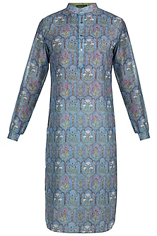 Dull Blue Printed Kurta