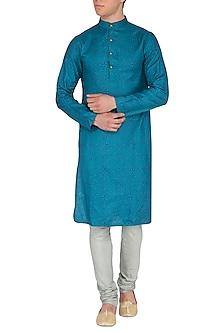Mint Green Churidaar Pants by Pranay Baidya Men