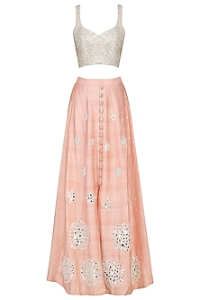 Blush Mirror Embroidered Lehenga Set