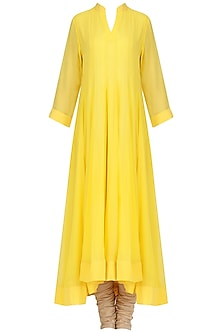 Chrome Yellow Asymmetrical Kurta Set