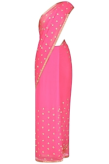 Pink Gota Work Saree