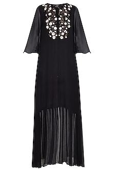 Black embroidered tunic by Priyam Narayan