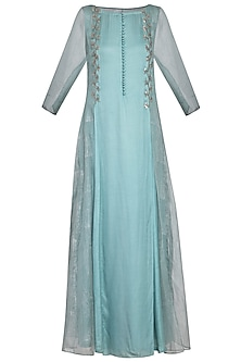 Powder blue embroidered kurta set