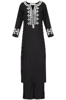 Black Embroidered Kurta Set by Preeti S Kapoor