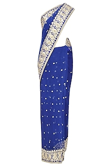 Blue Gota Patti Embellished Saree