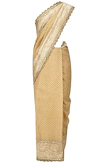 Gold Embroidered Saree with Heavy Gota Blouse