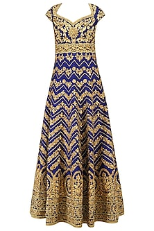 Blue Gota Patti Embroidered Anarkali Set