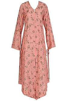 Pink Cracker Print Asymmetrical Dress