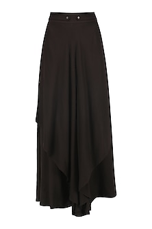 Brown Layered Asymmetrical Pants