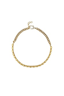 Gold plated swarovski crystals choker necklace by Prerto