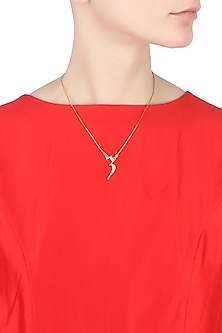 Gold plated customised alphabet pendant necklace