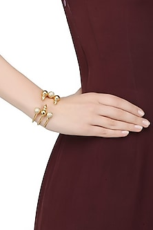 Gold Plated Swarovski Element 3 Tier Zosia Bracelet