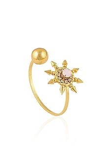 Gold Plated Pink Bowling Sun Bracelet by Prerto