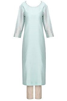 Pale Mint Embroidered Kurta Set