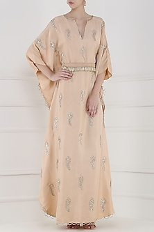 Blush Pink Embroidered Kaftan by Payal Singhal