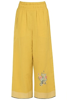 Yellow Elasticated Pants