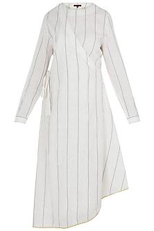 White Wrap Style Tunic