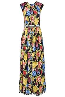 Black Rose Printed Maxi Dress