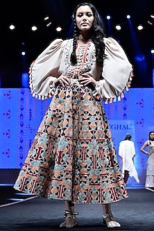 Stone Embroidered Top With Skirt by Payal Singhal