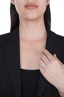 18kt White gold diamond rhythm ring by Qira Fine Jewellery