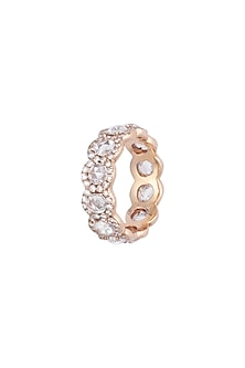 18kt Rose gold diamond infinity ring by Qira Fine Jewellery