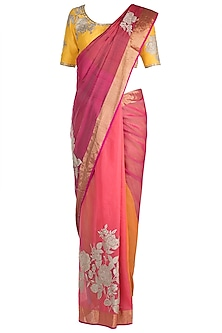 Multi Colored Embellished Saree Set by RAR Studio