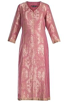Old Rose Embellished Tunic by RAR Studio