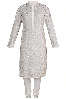 Ivory Embroidered Kurta Set by RAR Studio Men