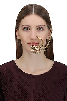 Gold Plated Pahadi Nose Ring by Ra Abta