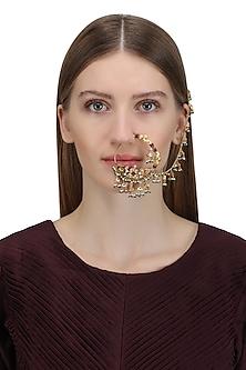 Gold Plated Pahadi Nose Ring by Ra Abta