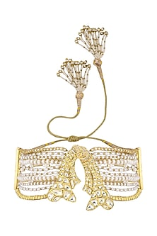 Gold Plated Pearls and Beads Armband by Ra Abta