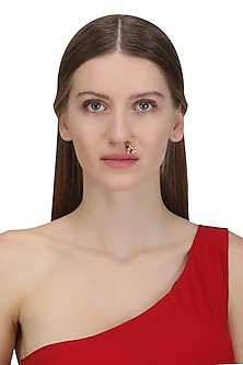 Gold Plated Shennai Septum Nose Ring by Ra Abta