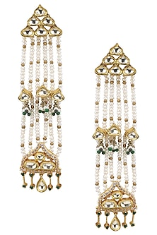 Gold Plated Mogra Earrings by Ra Abta