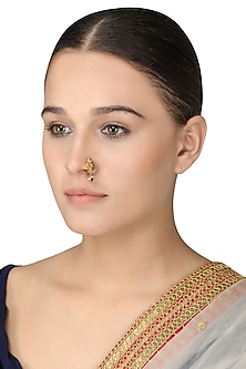 Gold Plated Lotus Nose Ring