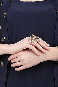 Gold Plated Rotating Garland Ring by Ra Abta