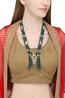 Gold Plated Green Onyx Palanquin Necklace