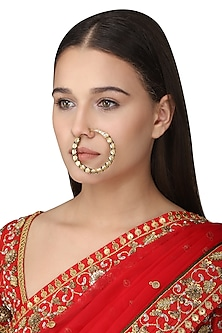 Gold Plated Tabla Nose Ring by Ra Abta