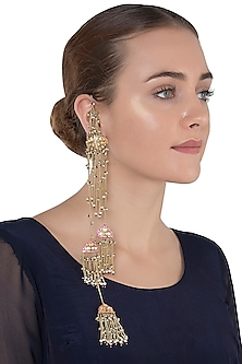 Gold Plated Kashimir Polki Earrings