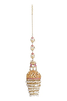 Gold Plated Filigree Jhumkas by Ra Abta
