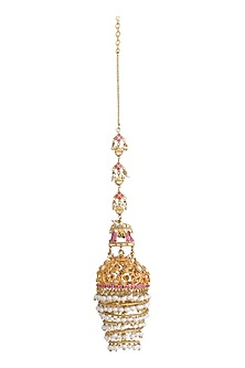 Gold Plated Filigree Jhumkas by Ra Abta