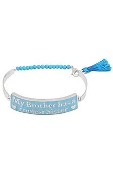Silver Plated 'My Brother Has A Coolest Sister' Rakhi by Ra Abta