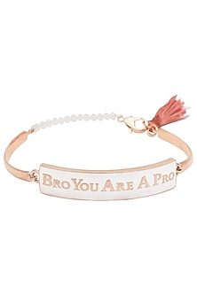 Gold and Black Plated 'Bro You Are A Pro' Rakhi by Ra Abta