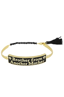 Gold and Black Plated 'Brother From Another Mother' Rakhi by Ra Abta