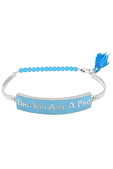 Silver Plated 'Bro You Are A Pro' Rakhi by Ra Abta