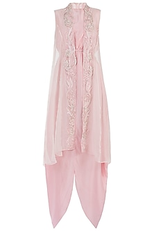 Pink Embroidered Jacket Dress