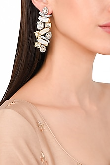 Gold Plated Baroque Pearls Earrings