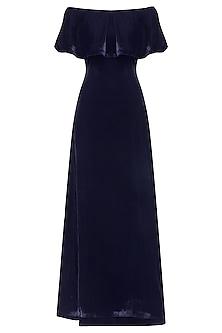 Royal Blue Off Shoulder Gown